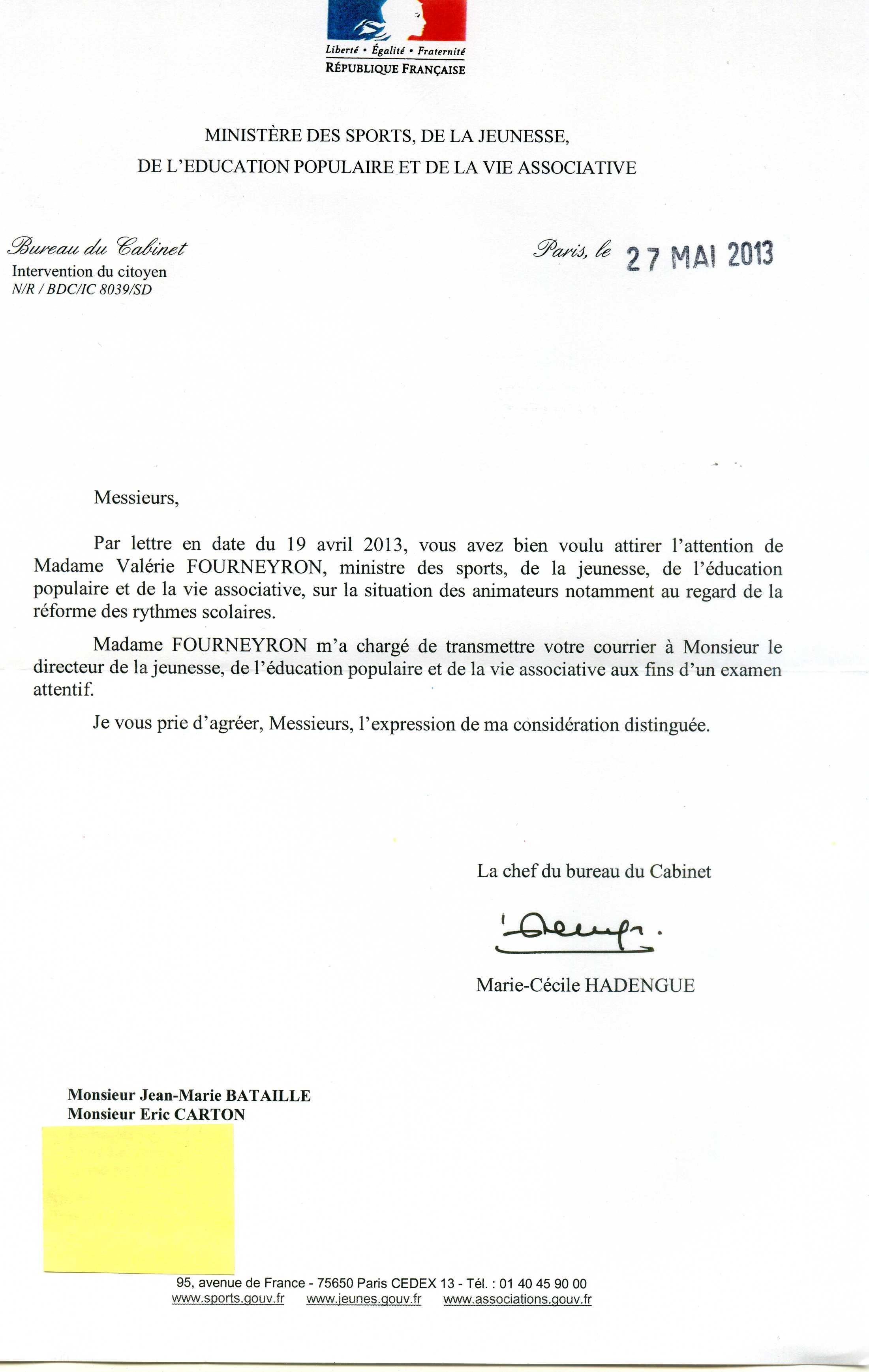 application letter sample  modele de lettre de demande a un ministre